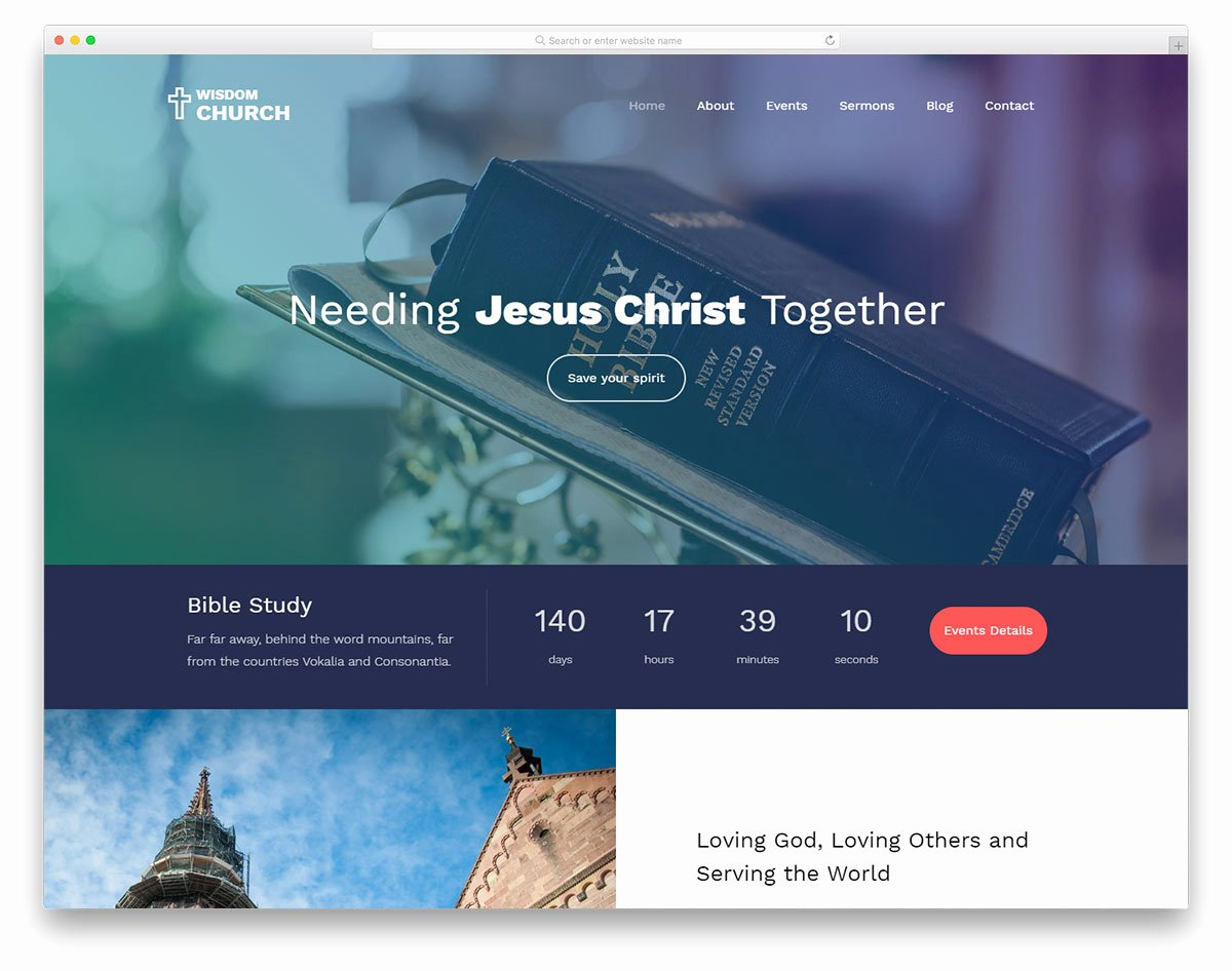 Video Background Website Template Awesome 23 Best Free Church Website Templates to Preach Gospel