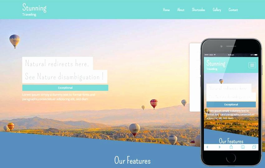 Video Background Website Template Awesome Responsive Website Template Video Background themes and