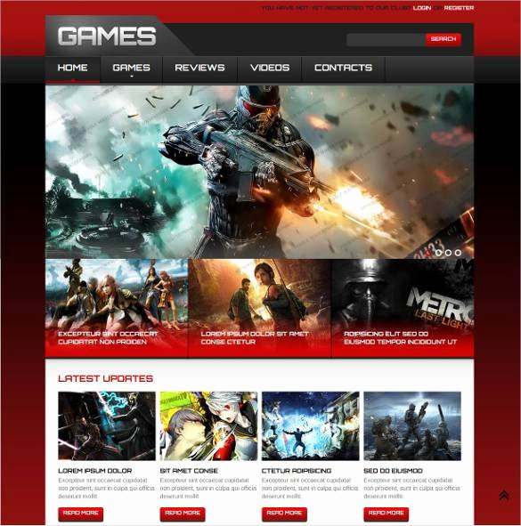Video Background Website Template Best Of 46 Gaming Website themes & Templates
