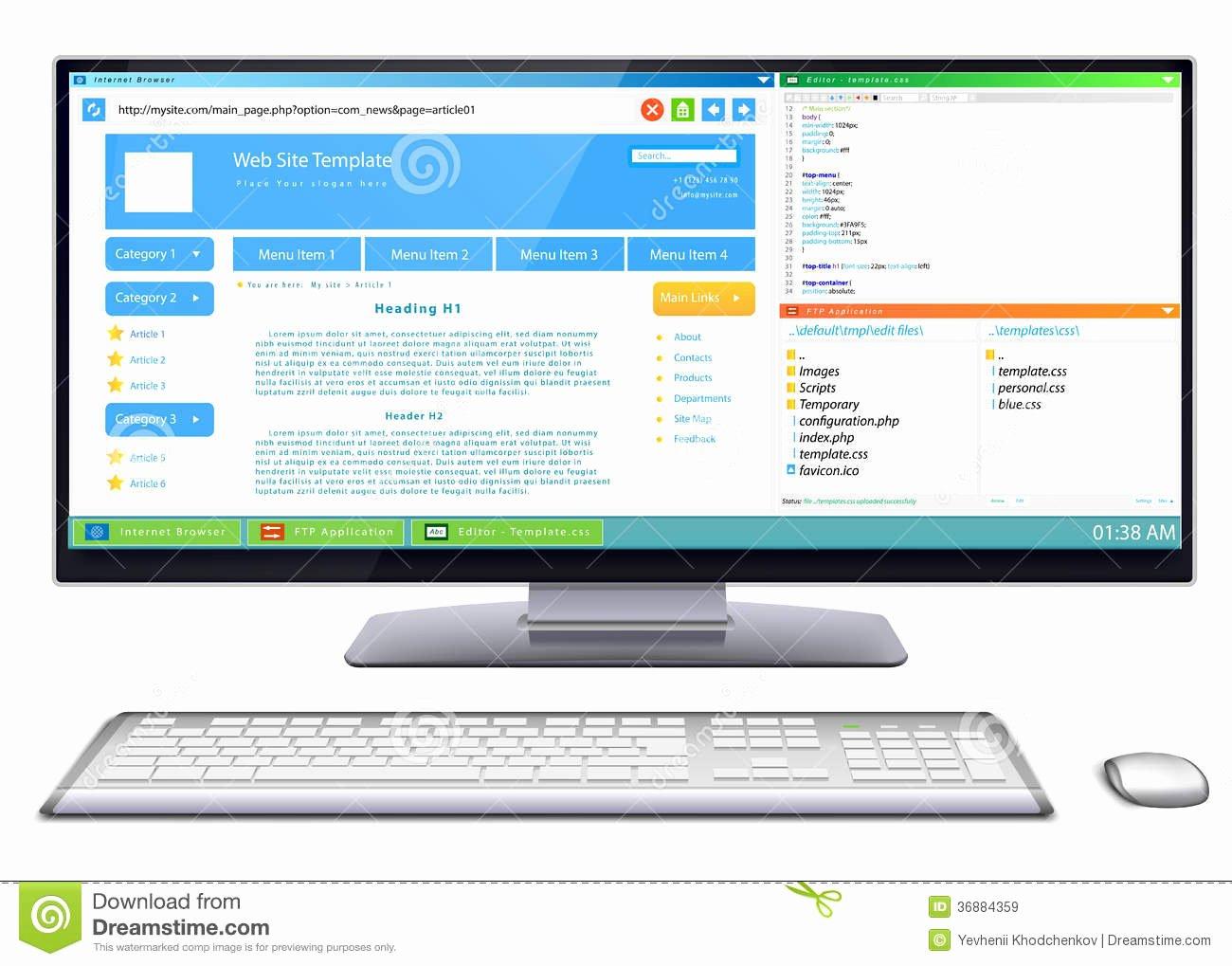 Video Background Website Template Inspirational Website Development Stock Vector Image Of Background