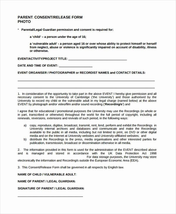 Video Consent form Template Best Of Consent form Templates