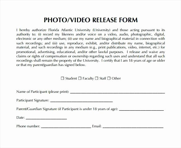 Video Consent form Template Elegant Copyright Release form Template Free Generic forms