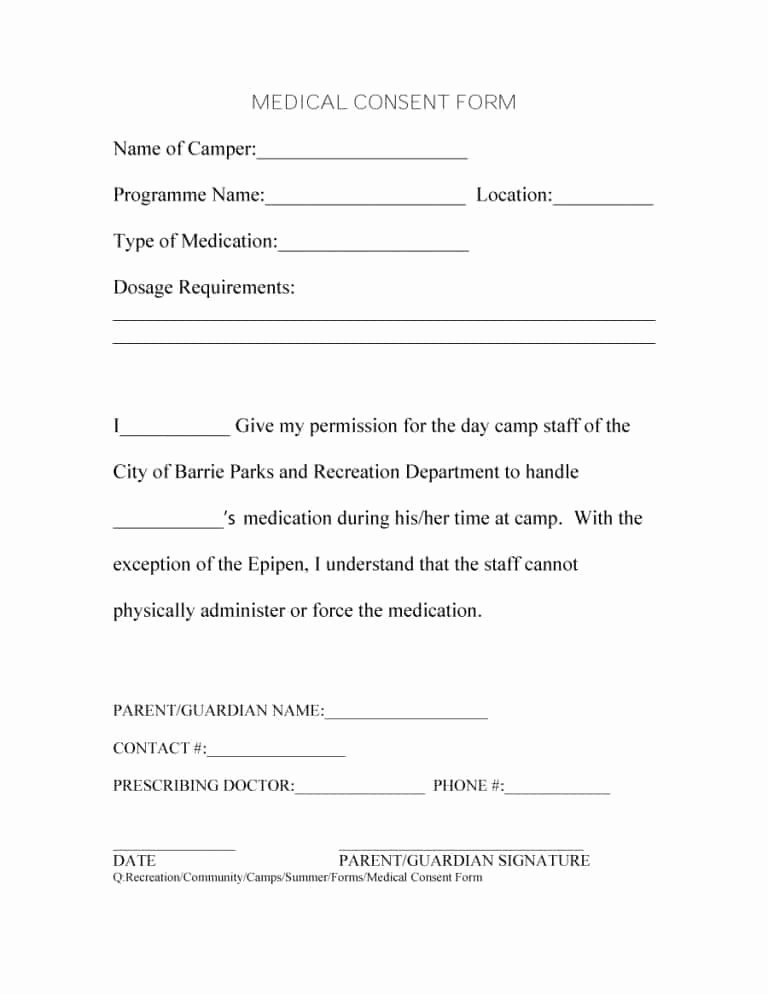 Video Consent form Template Fresh 45 Medical Consent forms Free Printable Templates