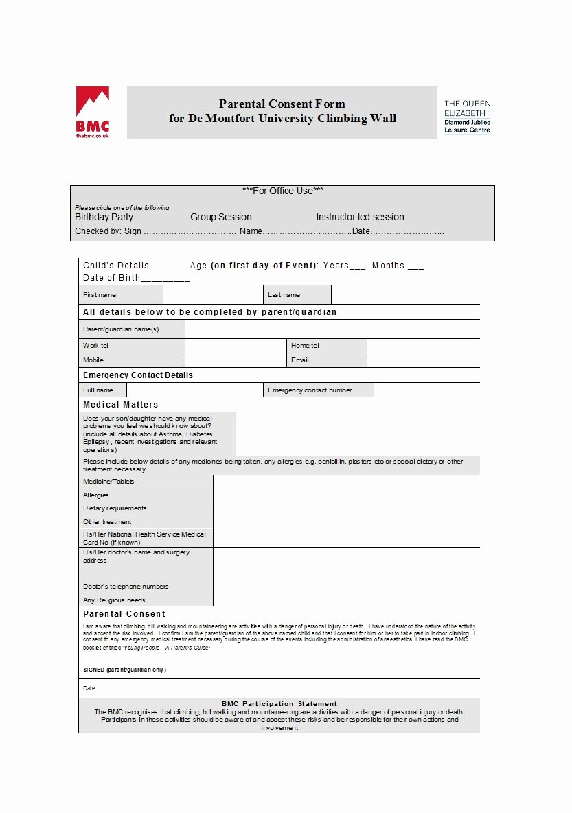 Video Consent form Template New 50 Printable Parental Consent form & Templates Template Lab