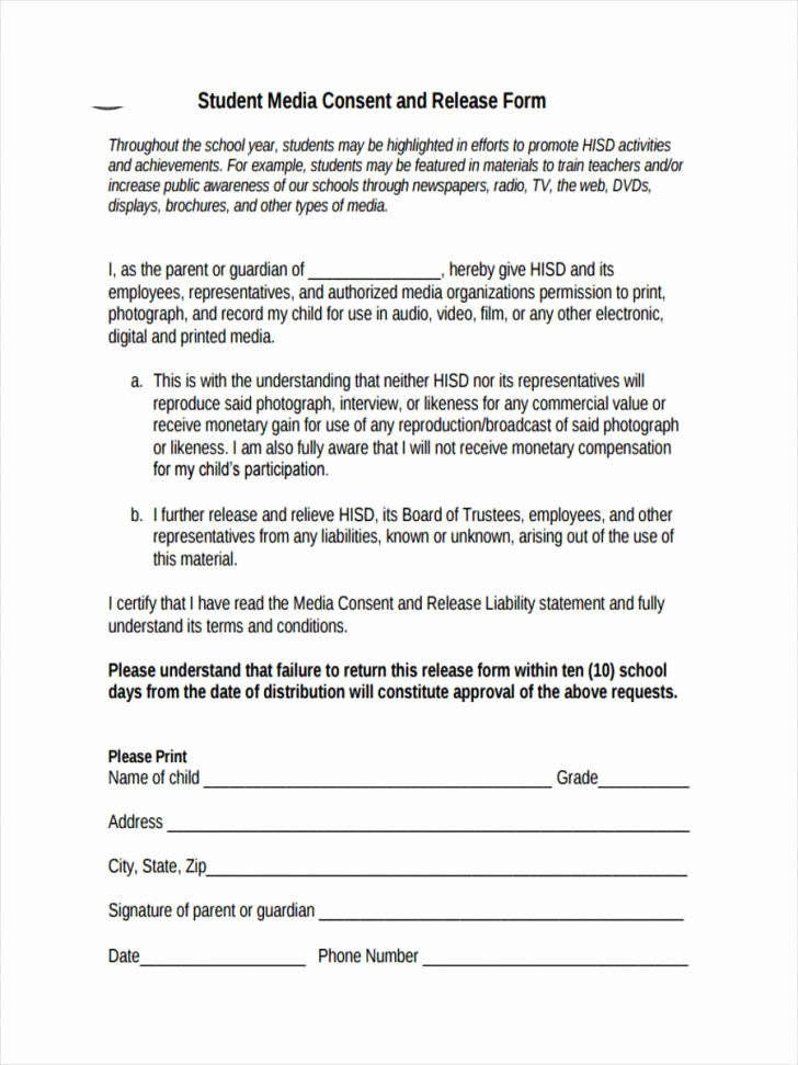 Video Consent form Template New Consent Video Consent form