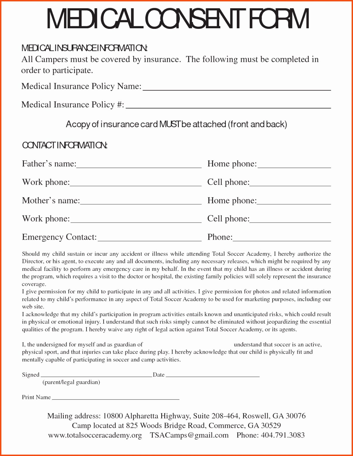 Video Consent form Template New Medical Consent Letter for Grandparents Template