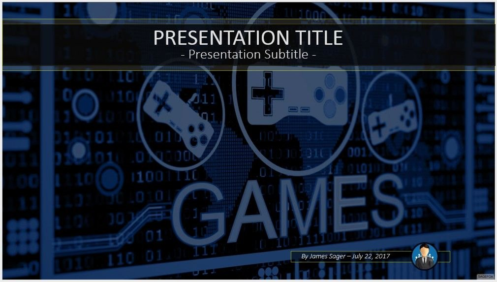 Video Game Powerpoint Template Awesome Free Game Controller Powerpoint Template 9822