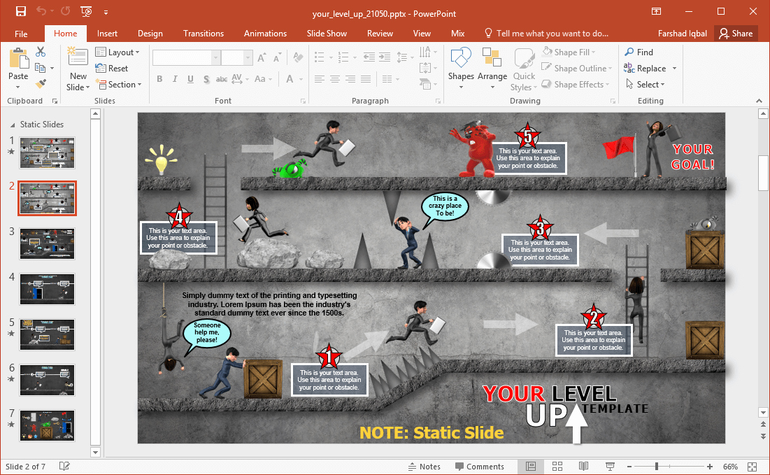 Video Game Powerpoint Template Beautiful Animated Video Game Powerpoint Template