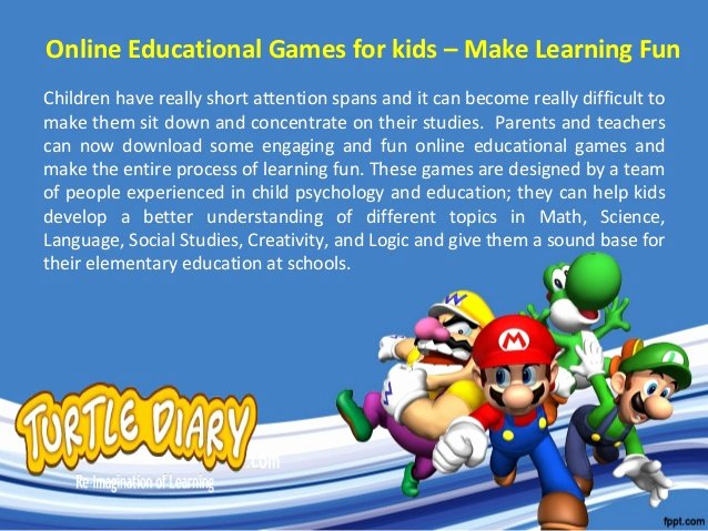 Video Game Powerpoint Template Best Of Line Educational Games for Kids – Make Learning Fun