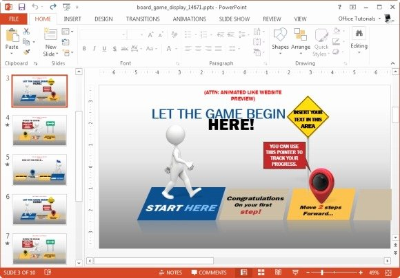 Video Game Powerpoint Template Inspirational Animated Board Game Powerpoint Template