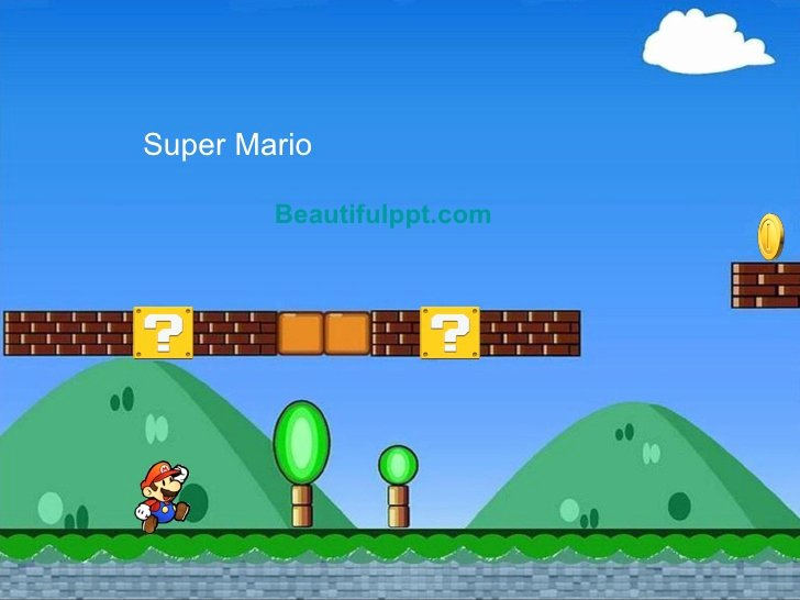 Video Game Powerpoint Template Lovely Cartoon Powerpoint Template Super Mario