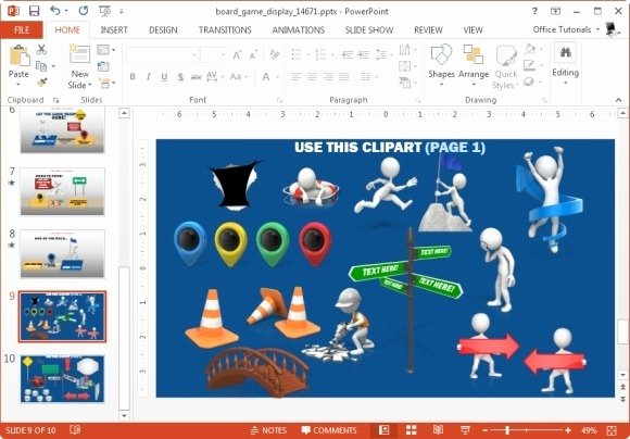 Video Game Powerpoint Template Unique Animated Board Game Powerpoint Template