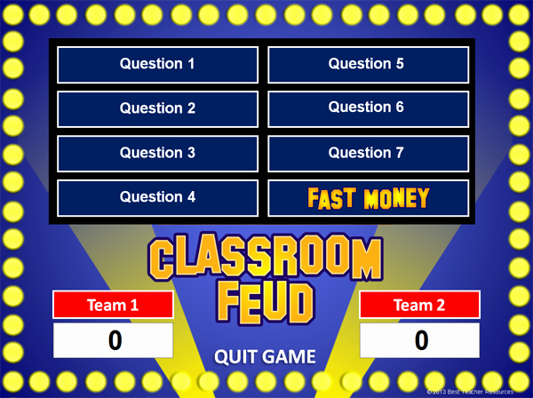 Video Game Ppt Template Awesome Family Feud Powerpoint Game Template School