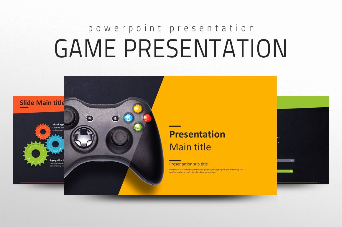 Video Game Ppt Template Awesome Game Presentation Template Powerpoint Templates