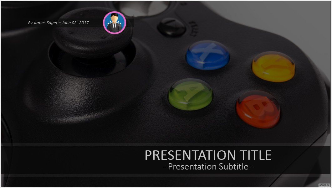 Video Game Ppt Template Fresh Game Controller Powerpoint Template 9822 Free Powerpoint