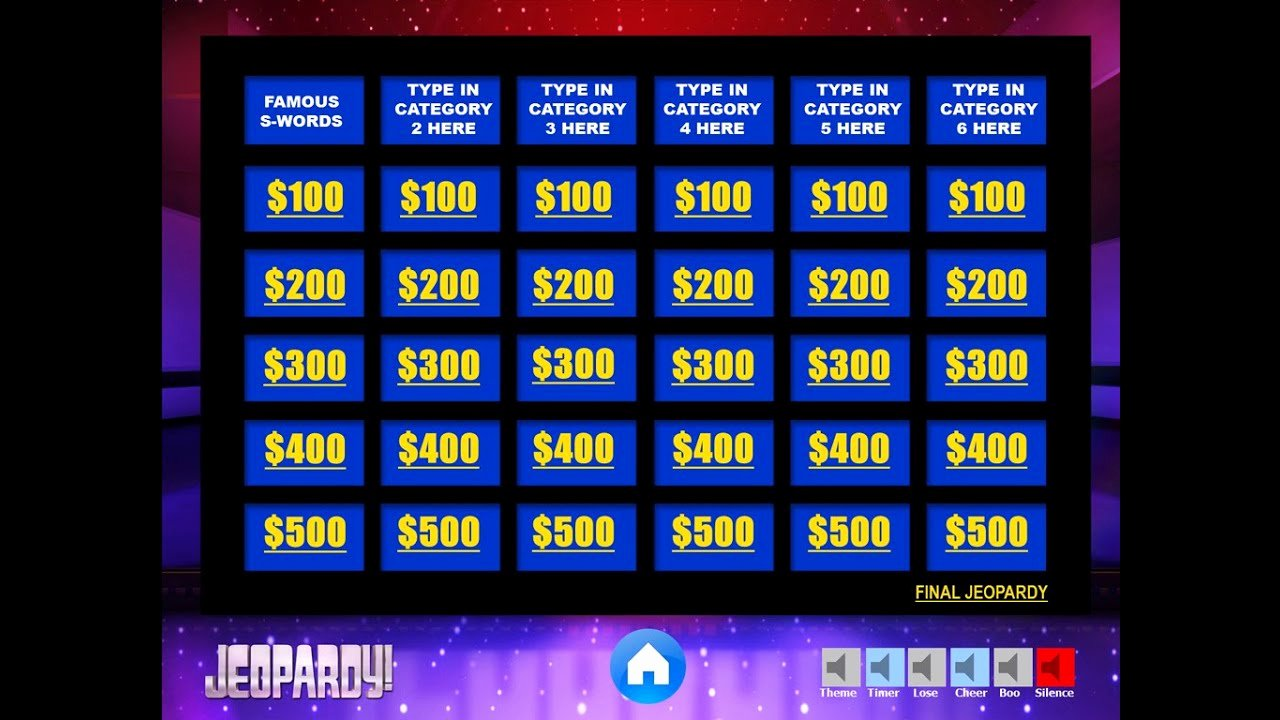 Video Game Ppt Template New Download the Best Free Jeopardy Powerpoint Template How