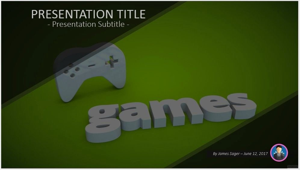 Video Game Ppt Template New Free Game Controller Powerpoint Template 9822