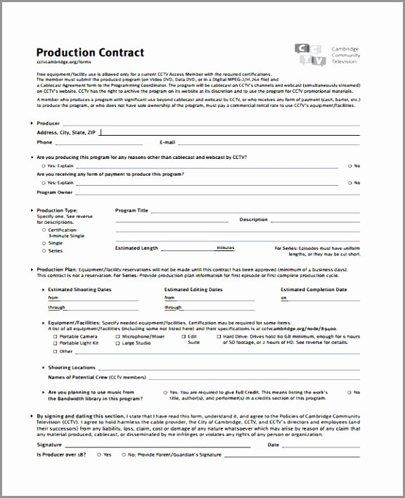 Video Production Contract Template Fresh 5 Video Production Contract Template Ereoy