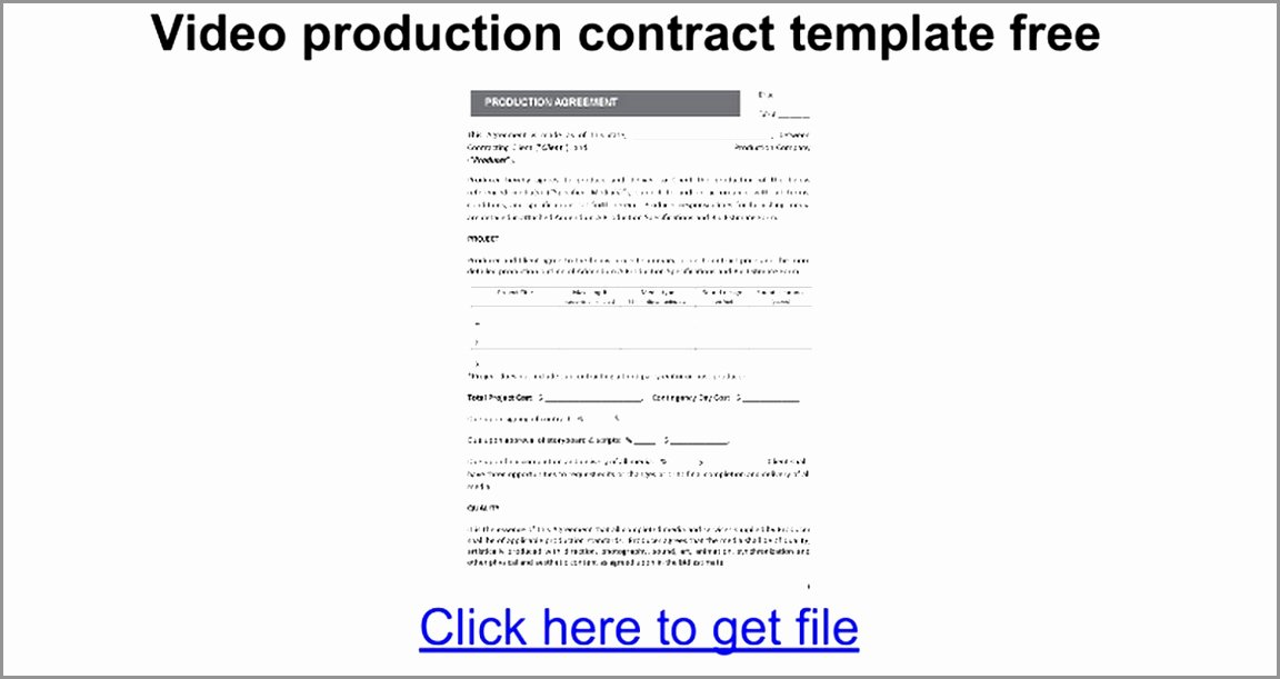 Video Production Contract Template Luxury 5 Video Production Contract Template Ereoy