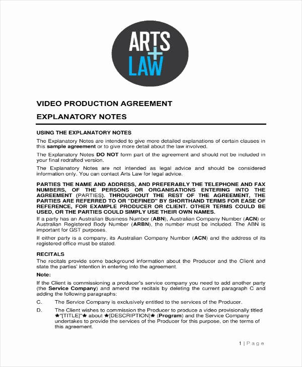 Video Production Contract Template Unique 7 Production Contract Templates Pdf Word