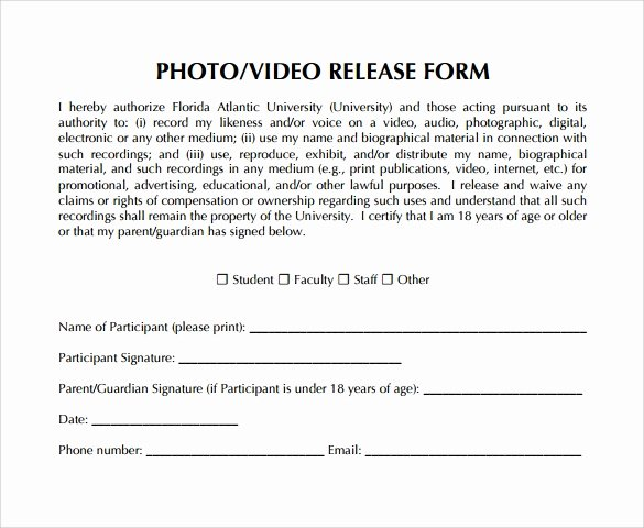 Video Release forms Template Beautiful Video Release form 8 Samples Examples & format