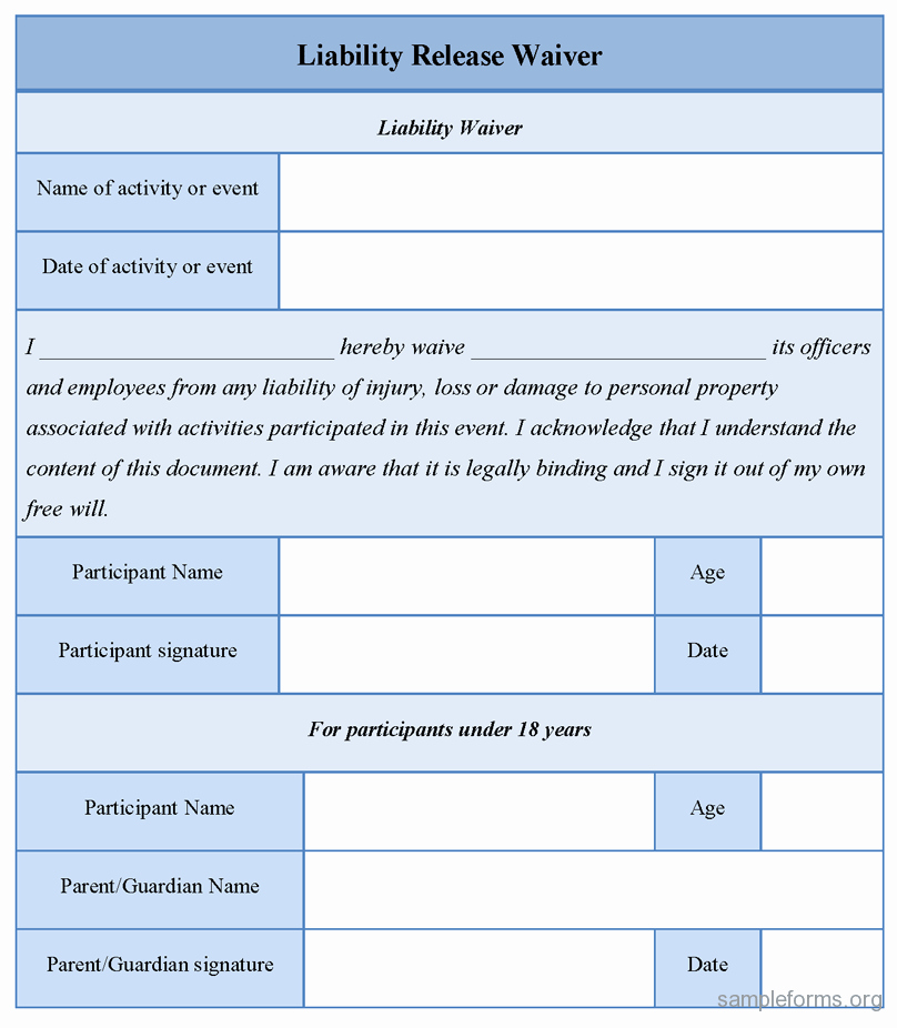 Video Release forms Template New Free Printable Liability Release form Template form Generic