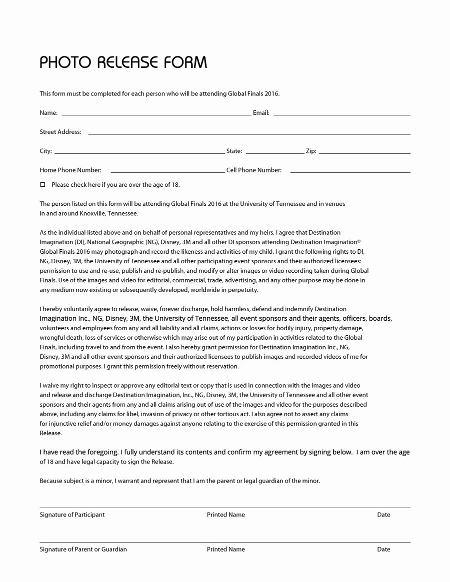 Video Release forms Template New Photography Release form Pdf 10 Quick Tips Regarding