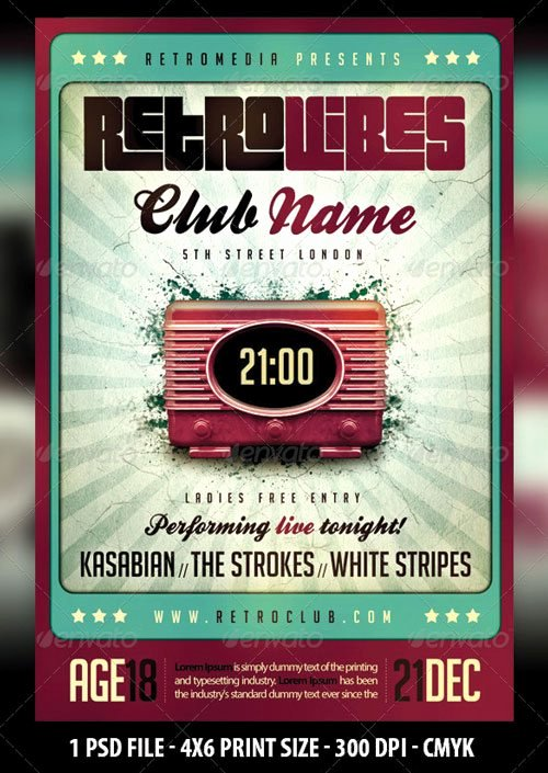 Vintage Concert Poster Template Best Of 10 Best Of Vintage Poster Template All You Need