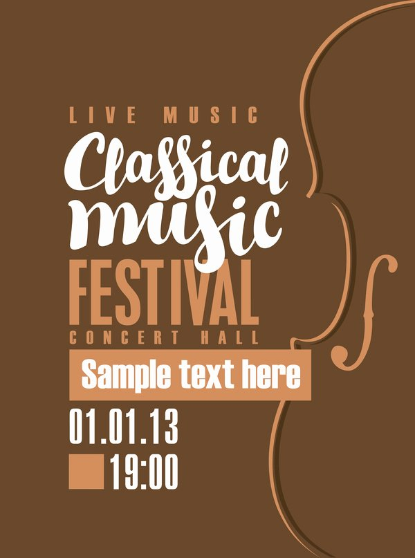 Vintage Concert Poster Template Best Of Classical Music Retro Concert Poster Template 09 Free