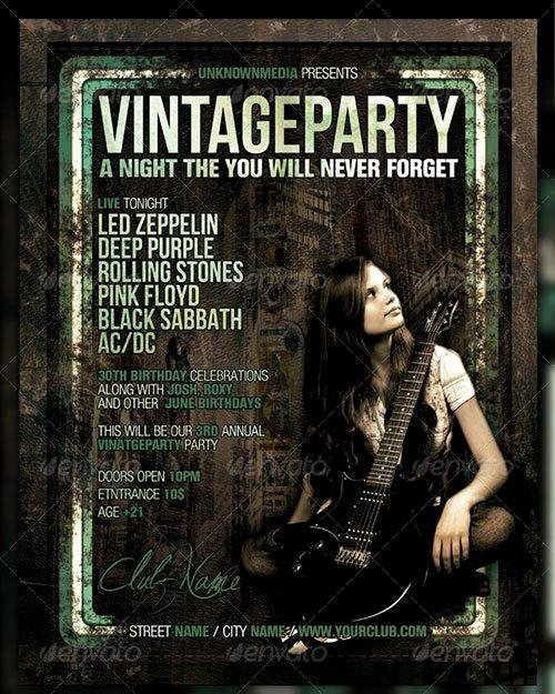 Vintage Concert Poster Template Luxury top 10 Best Magazine Style Psd Flyer Templates