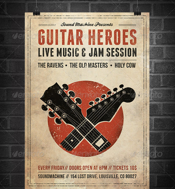 Vintage Concert Poster Template New 25 Best Free & Premium Music Poster Templates Designmaz