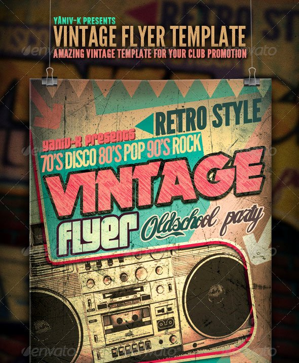 Vintage Concert Poster Template New 25 Retro & Vintage Psd Flyer Templates
