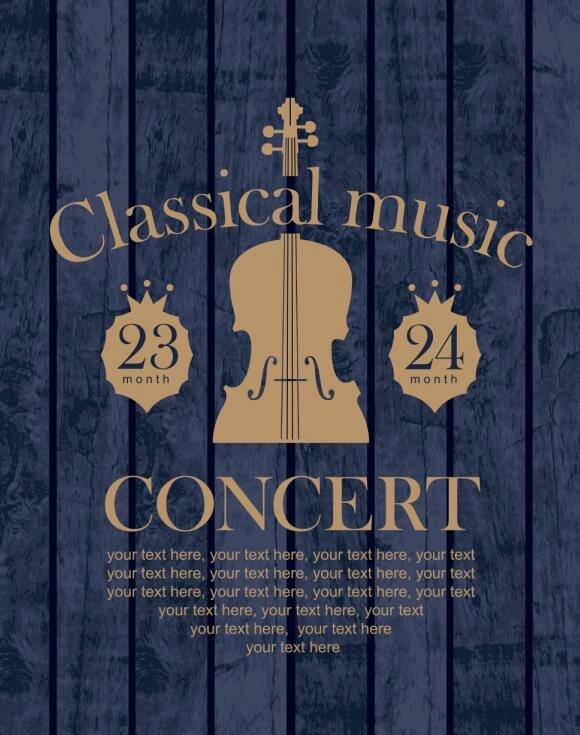 Vintage Concert Poster Template New Retro Classic Concert Flyer T