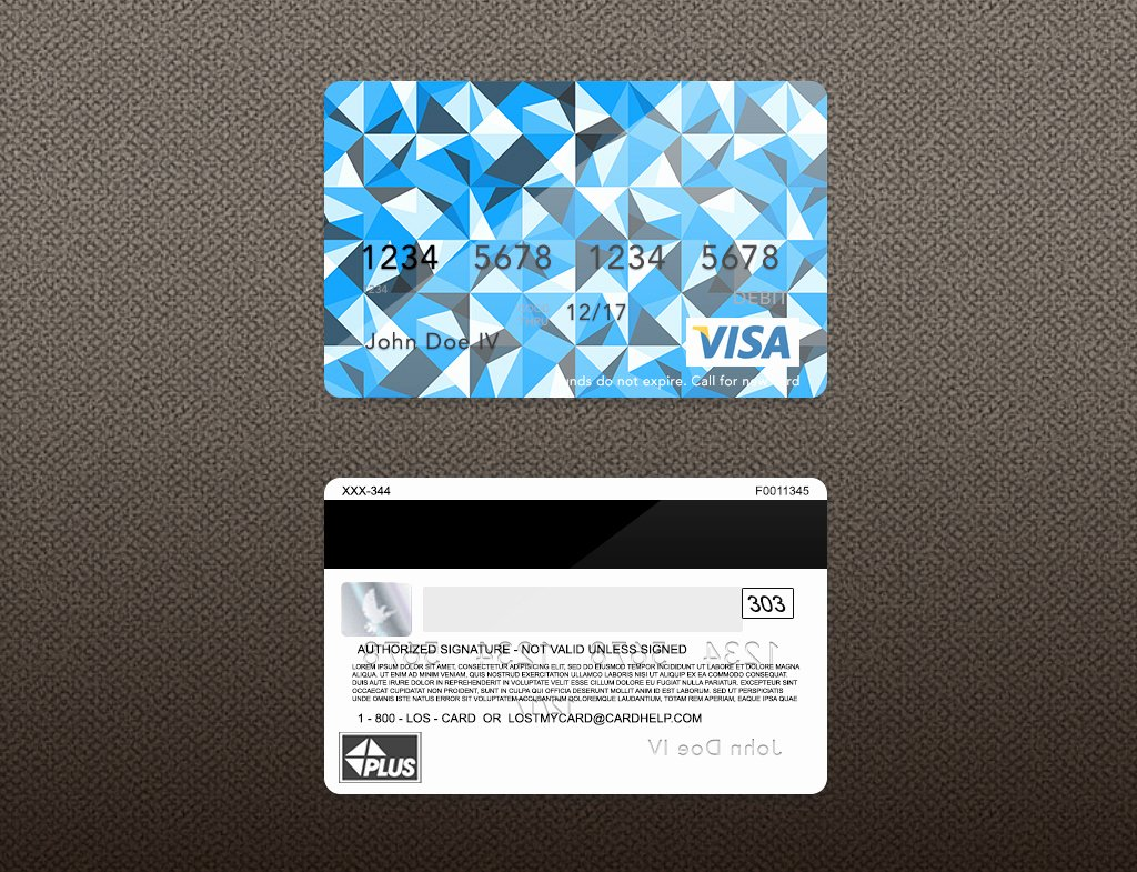 Visa Credit Card Template Best Of Bank Card Psd Template On Behance