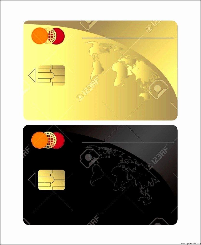 Visa Credit Card Template Elegant Blank Credit Card Template Blank Visa Credit Card Template
