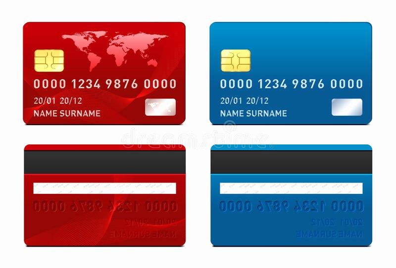 royalty free stock images vector credit card template front back side image