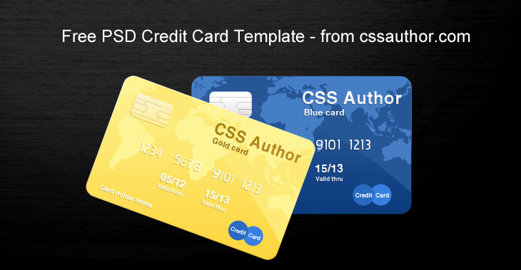 Visa Credit Card Template New Awesome Credit Card Template Psd for Free Download