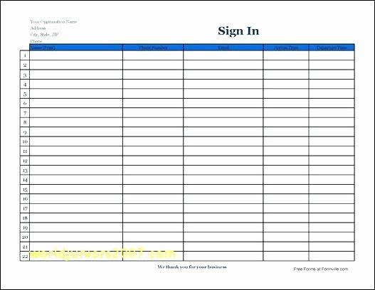 Visitor Log Book Template Awesome 15 Visitors Sign In Sheet