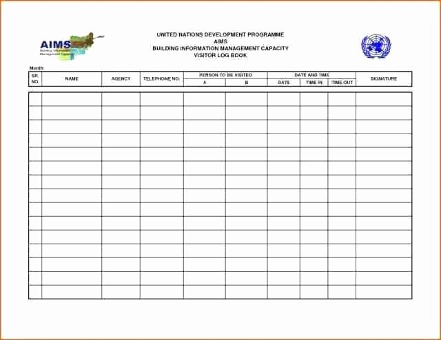 Visitor Log Book Template Beautiful Visitor Log Book Template – Meicys