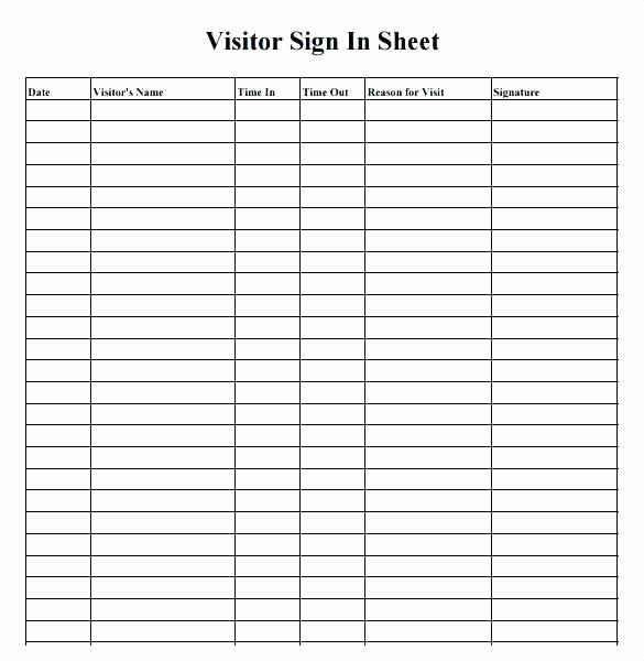 Visitor Log Book Template Fresh 12 Open House Sign In Sheets Templates