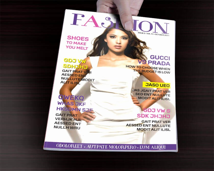 Vogue Magazine Cover Template Awesome 1 Page Fashion Magazine Cover Template
