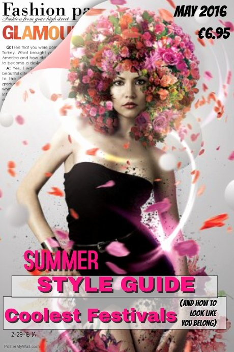 Vogue Magazine Cover Template Fresh Style Fashion Magazine Cover Template