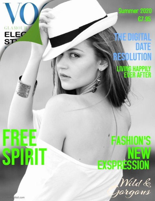 Vogue Magazine Cover Template Fresh Vogue Free Spirit Magazine Cover Template