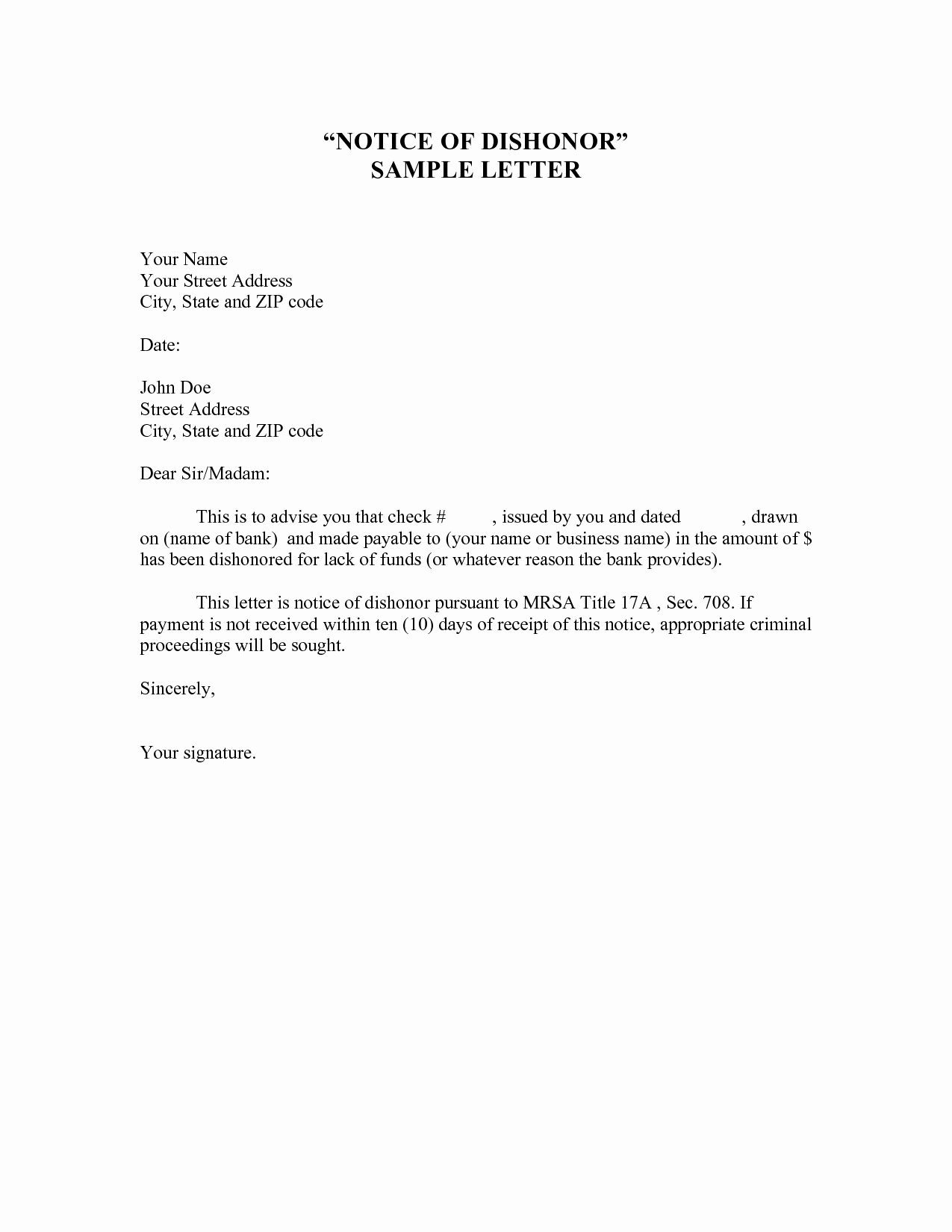 Voluntary Demotion Letter Template Best Of 10 Best Of Notice Letter Template Payment Notice