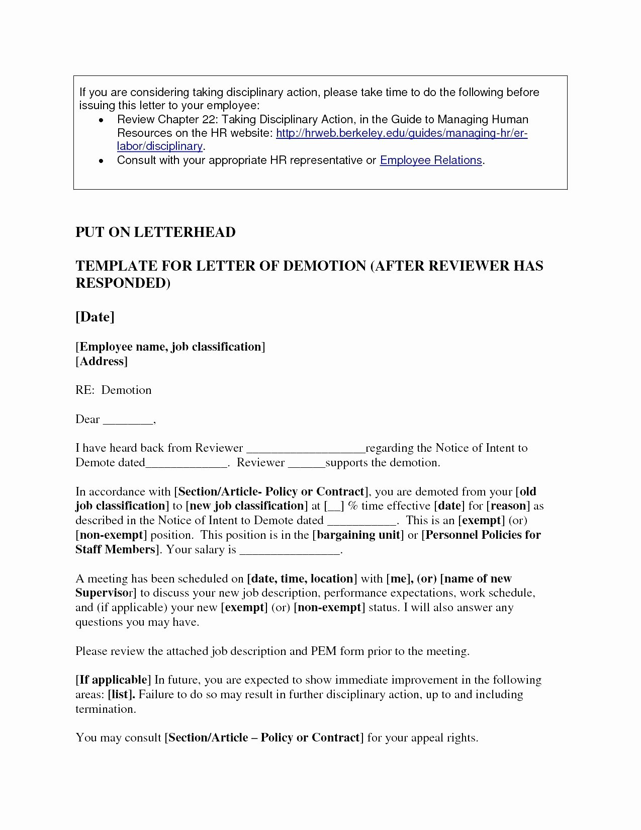 Voluntary Demotion Letter Template Best Of Demotion Letter Sample Pdf