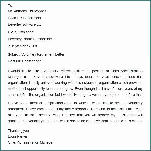 Voluntary Resignation form Template Best Of Template Retirement Letter – Freewarearenafo