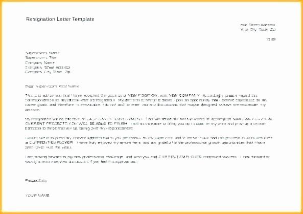 resignation form template