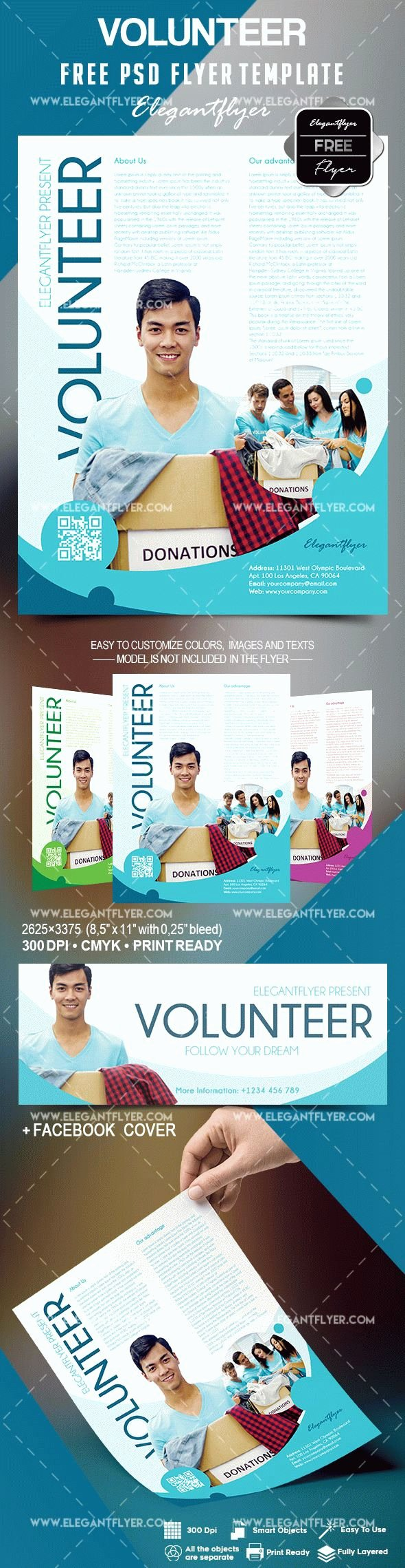 Volunteer Flyer Template Free Best Of Free Volunteer Flyer Template – by Elegantflyer