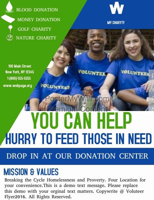 volunteers flyer template