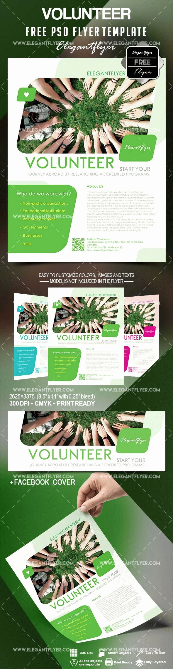 Volunteer Flyer Template Free Elegant Volunteer Flyer Template Free – by Elegantflyer